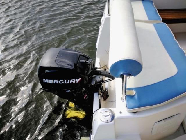 Silnik na łodzi bez patentu Mazury